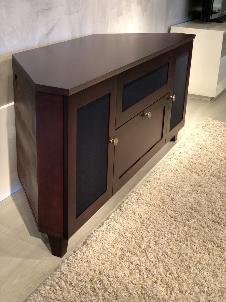 """Well Known Furnitech Ft61sccdc Shakers Corner Tv Stand Up To 65"""" Tv's In Aaric Tv Stands For Tvs Up To 65"""" (View 16 of 20)"""