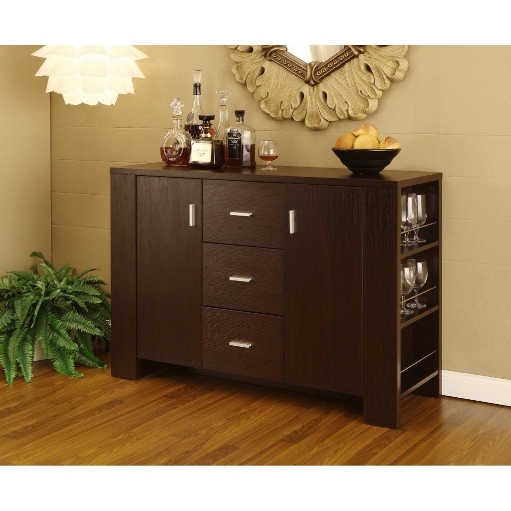 """Well Known Furnituremaxx Dining Room Server Sideboard Buffet For Fugate 48"""" Wide 4 Drawer Credenzas (View 3 of 20)"""