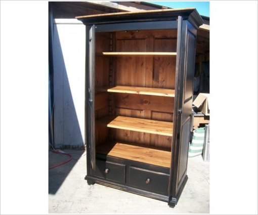 """Well Known Kinston 74"""" Wide 4 Drawer Pine Wood Sideboards For Cupboard Wardrobe 2 Door (View 15 of 20)"""