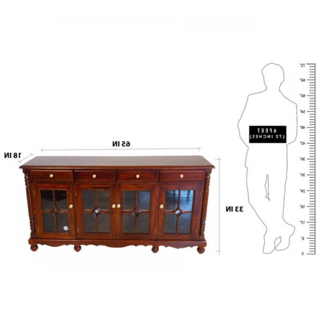 Well Known Orner Traditional Wood Sideboards Pertaining To Traditional Wooden Sideboard (View 16 of 20)