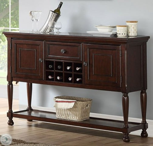 """Well Known Sophia Cherry Brown Sideboard From Avalon Furniture Within Douros 42"""" Wide Alder Wood Drawer Servers (View 3 of 3)"""