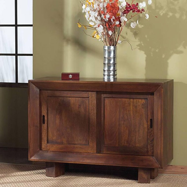 """Well Known Zinaida 59"""" Wide Mango Wood Buffet Tables Inside Solid Mango Sliding Door Sideboard – Free Shipping Today (View 6 of 20)"""
