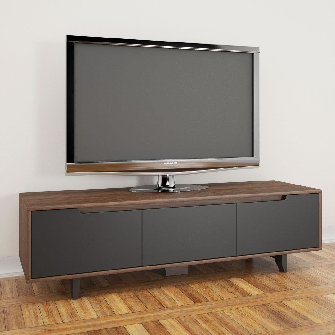 """Well Liked Avenir Tv Stands For Tvs Up To 60"""" Pertaining To Nexera Alibi 60 Inch Tv Stand (walnut & Charcoal) – Nx (View 9 of 20)"""