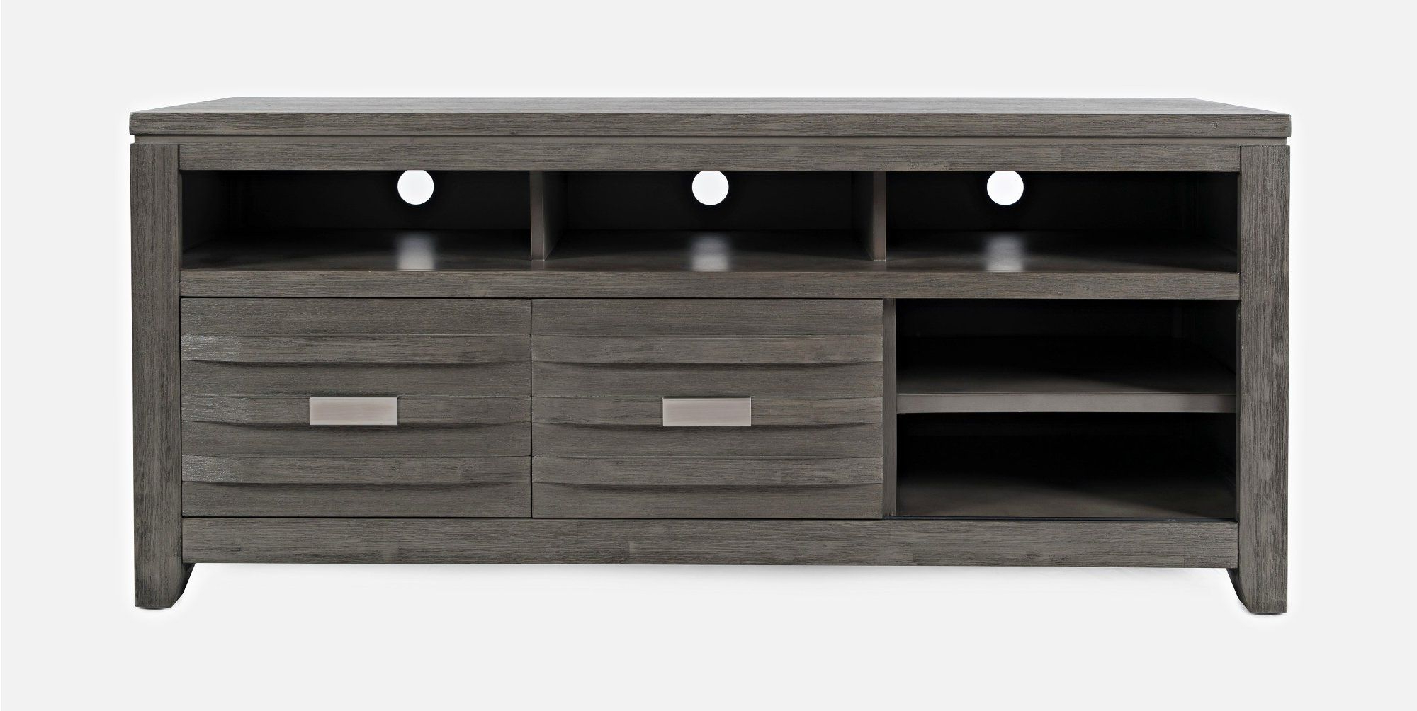 """Well Liked Evanston Tv Stands For Tvs Up To 60"""" Within Brushed Gray Modern 60 Inch Tv Stand – Altamonte In (View 13 of 20)"""
