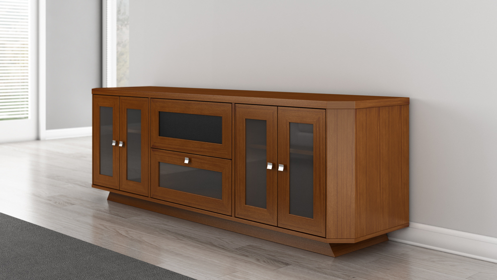 """Well Liked Furnitech – 70"""" Transitional Tv Stand In Light Cherry Throughout Lorraine Tv Stands For Tvs Up To 70"""" (View 19 of 20)"""