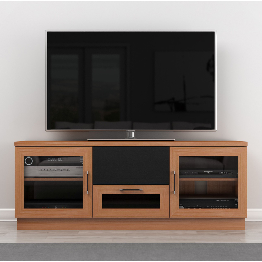 """Well Liked Furnitech Ft60ccnc – Contemporary Tv Stand Media Console Throughout Bloomfield Tv Stands For Tvs Up To 65"""" (View 8 of 20)"""