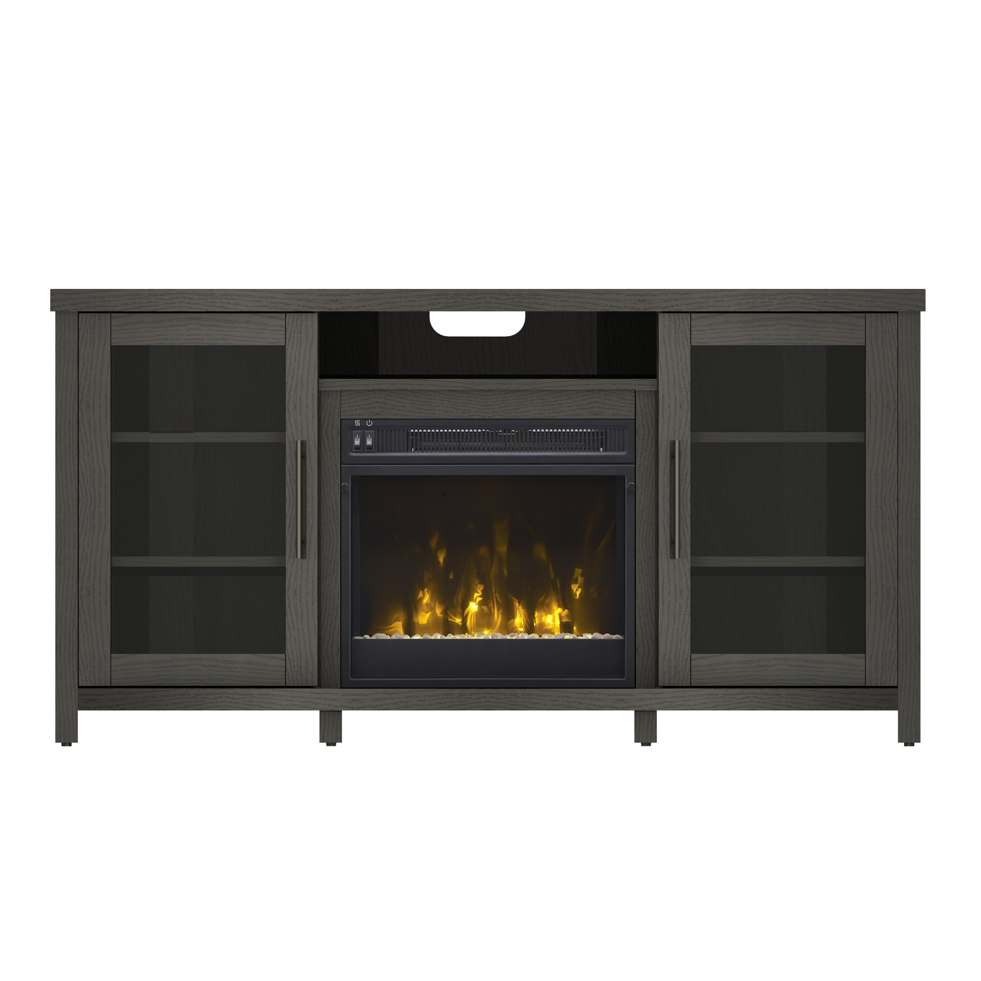 """Well Liked Herington Tv Stands For Tvs Up To 60"""" Pertaining To Rossville Tv Stand For Tvs Up To 60"""" With Electric (View 12 of 20)"""