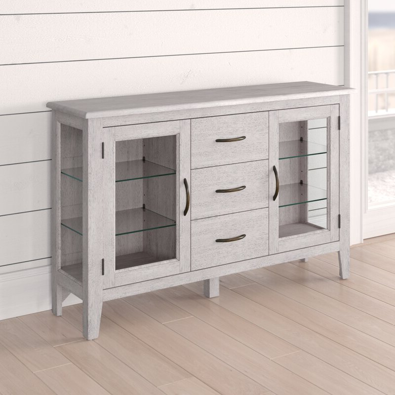 """Well Liked Sandweiler 54"""" Wide 2 Drawer Sideboards Within Rosecliff Heights Rutledge 54"""" Wide 3 Drawer Sideboard (View 3 of 20)"""
