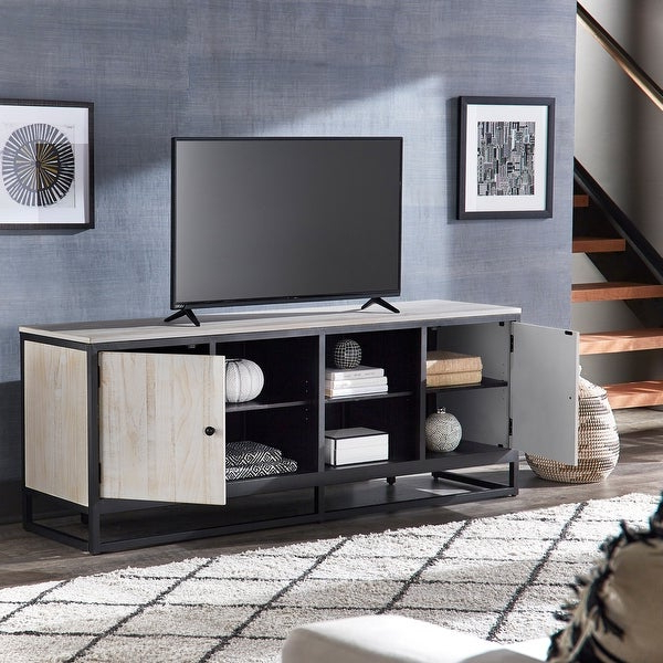 """Well Liked Shop Micah Distressed Finish Black Metal 70 Inch Tv Stand Inside Mainor Tv Stands For Tvs Up To 70"""" (View 4 of 20)"""