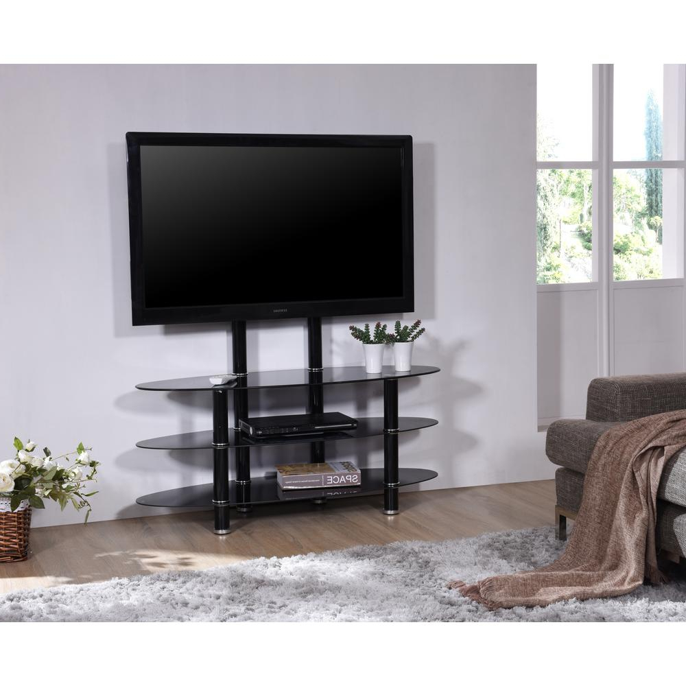 """Well Liked Television Stand With Mount Oval Shaped Glass No Sharp Throughout Quillen Tv Stands For Tvs Up To 43"""" (View 6 of 20)"""