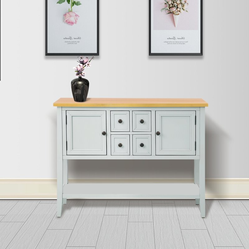 """Well Liked Voight 46"""" Wide 4 Drawer Acacia Wood Drawer Servers Intended For Highland Dunes Oshields 46'' Wide 4 Drawer Acacia Wood (View 15 of 20)"""