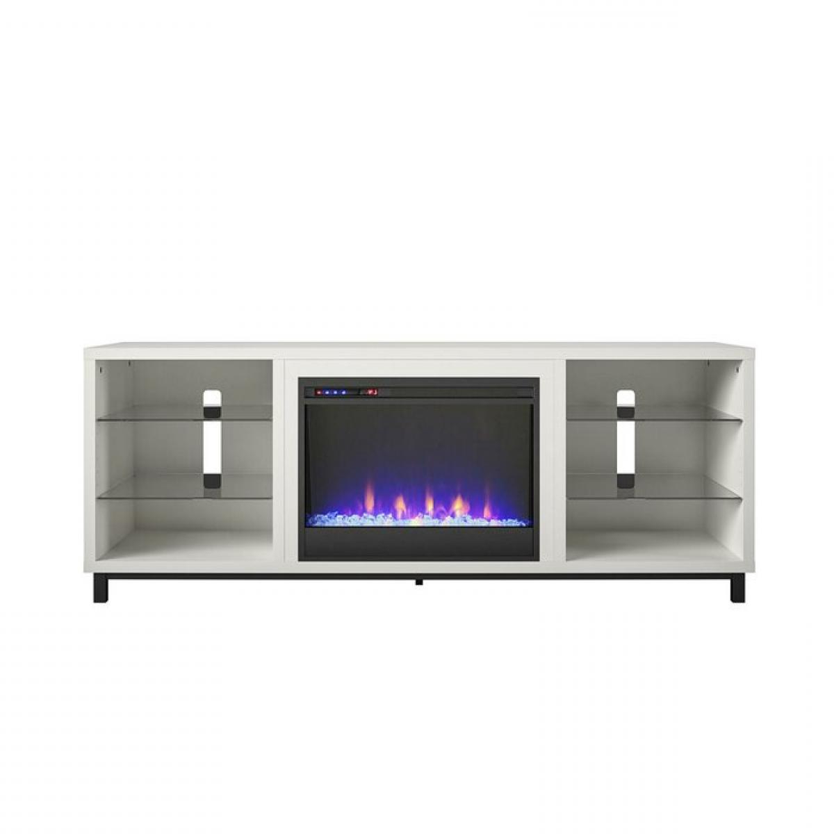 """Well Liked White Westchester Tv Stand For Tvs Up To 65"""" With Electric With Dallas Tv Stands For Tvs Up To 65"""" (View 7 of 20)"""