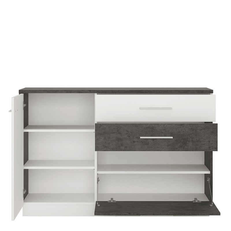 Well Liked Zingaro 1 Door 2 Drawer 1 Compartment Sideboard For Rockville  (View 8 of 20)