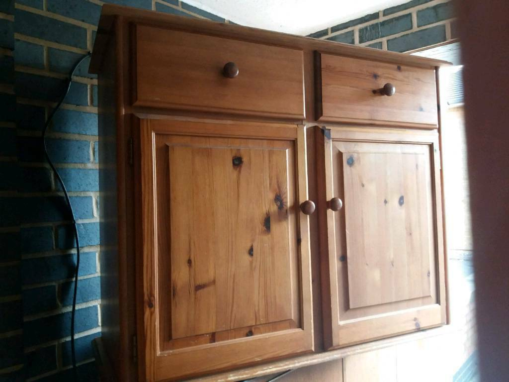 """Westhoff 70"""" Wide 6 Drawer Pine Wood Sideboards Throughout Most Popular Solid Pine Sideboard Unit Cupboard Perfect Project (View 2 of 20)"""