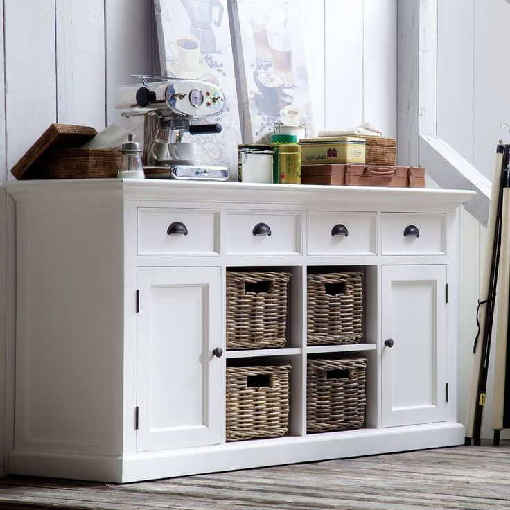 """White Buffet Intended For 2019 Frida 71"""" Wide 2 Drawer Sideboards (View 2 of 20)"""