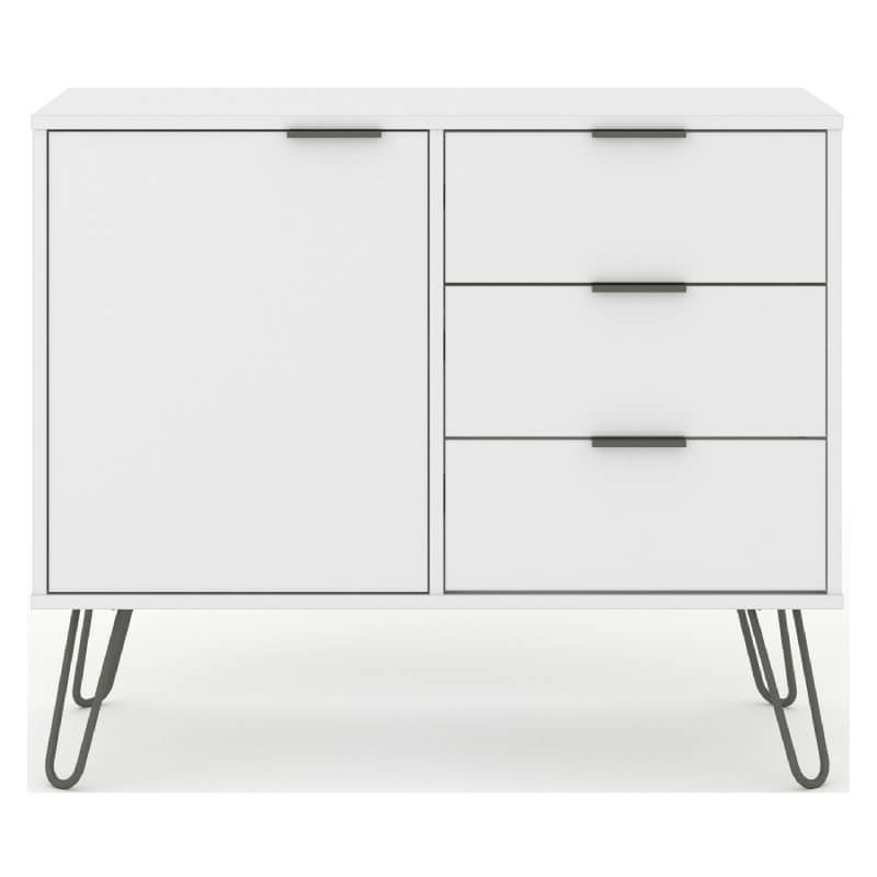 """[%white Small Sideboard, 1 Door 3 Drawers [augusta] Pertaining To Well Known Kinston 74"""" Wide 4 Drawer Pine Wood Sideboards kinston 74"""" Wide 4 Drawer Pine Wood Sideboards Throughout 2020 White Small Sideboard, 1 Door 3 Drawers [augusta] latest Kinston 74"""" Wide 4 Drawer Pine Wood Sideboards Inside White Small Sideboard, 1 Door 3 Drawers [augusta] 2019 White Small Sideboard, 1 Door 3 Drawers [augusta] With Regard To Kinston 74"""" Wide 4 Drawer Pine Wood Sideboards%] (View 14 of 20)"""