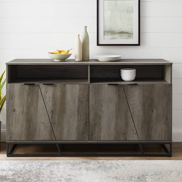"""Wide Sideboard, Contemporary With Keiko 58"""" Wide Sideboards (View 7 of 20)"""