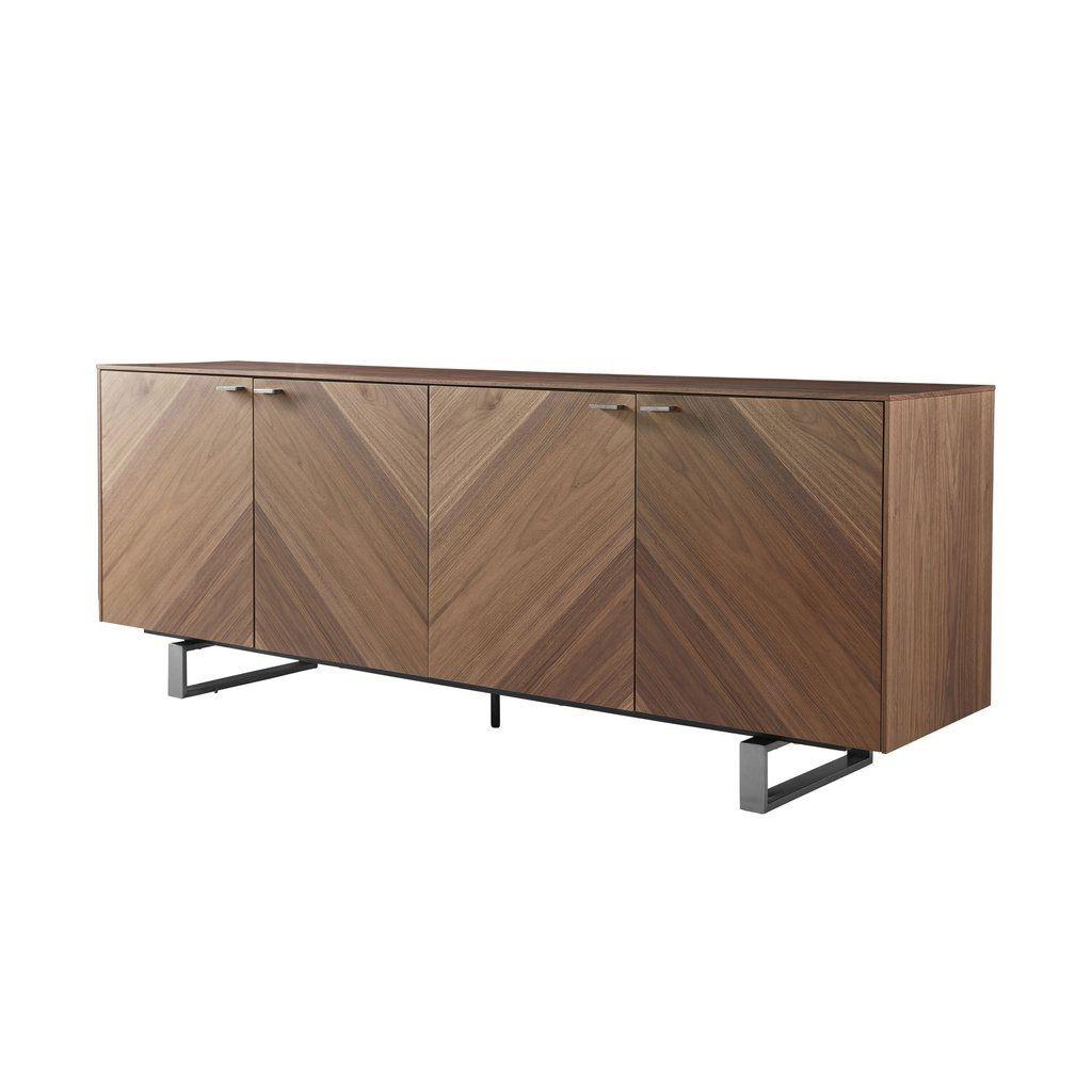 Wide Sideboard, Stainless Steel Doors, Solid (View 8 of 20)