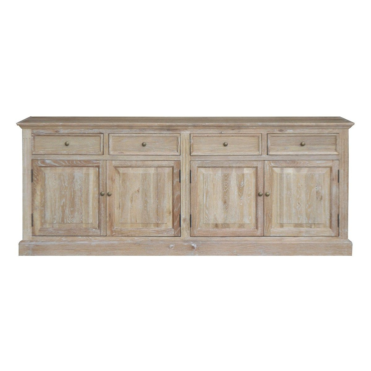 """Widely Used Bardia Oak Timber 4 Door 4 Drawer Sideboard, 200cm, Lime Intended For Albright 58"""" Wide 3 Drawer Sideboards (View 14 of 20)"""
