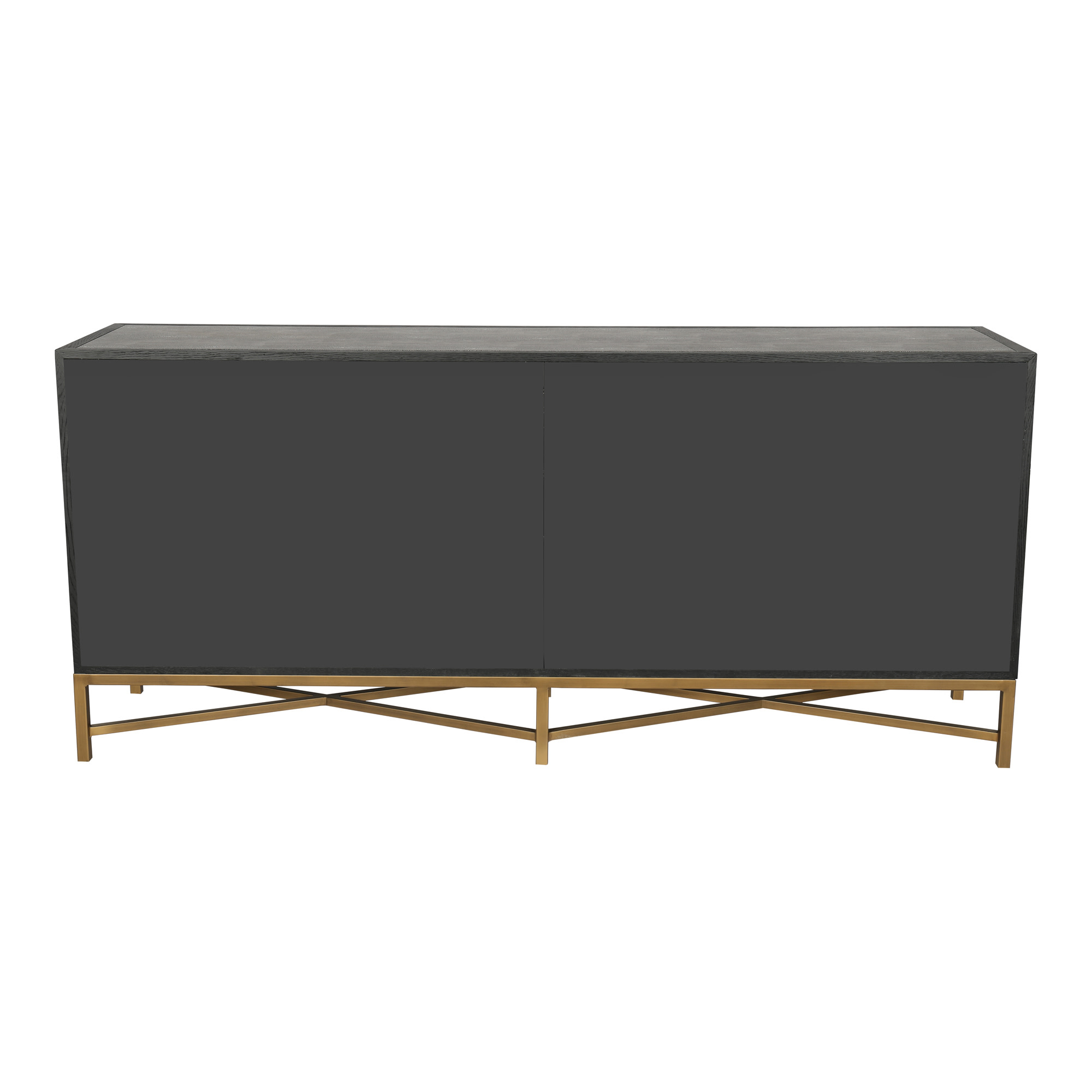 """Widely Used Ellison 76"""" Wide Sideboards Throughout Moes Home Collection Vl 1048 Mako 76""""w Brass And Oak (View 15 of 20)"""