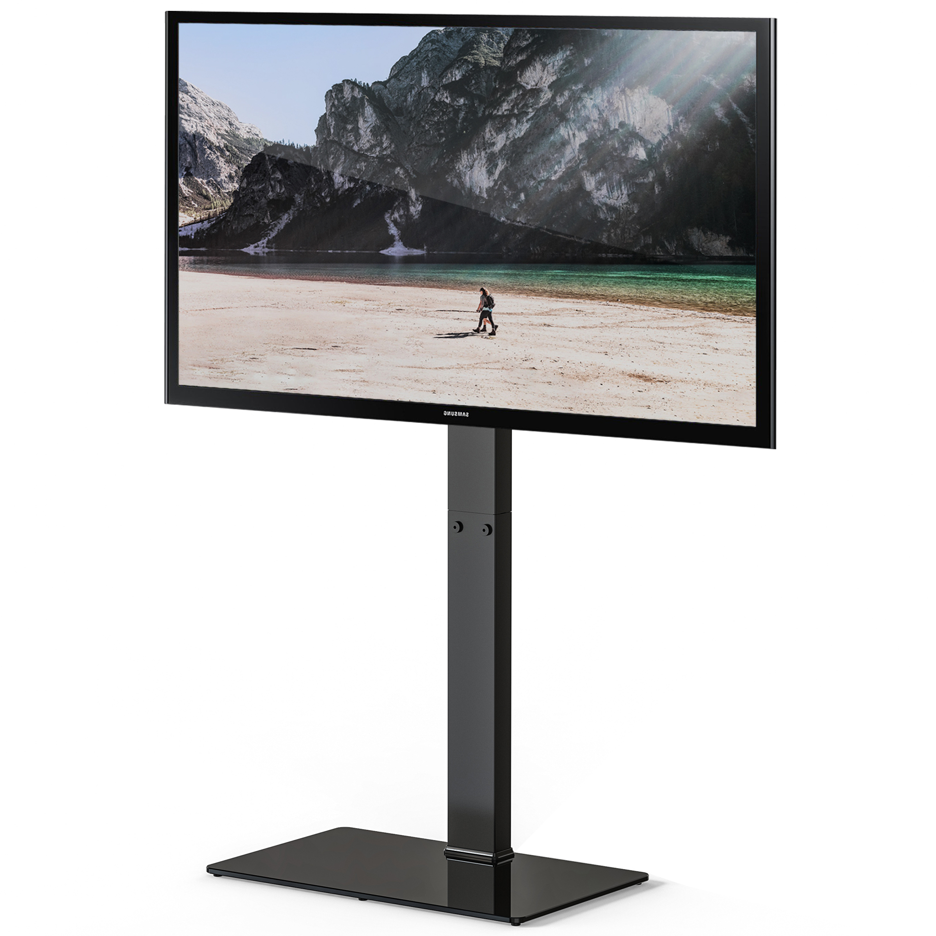 """Widely Used Fitueyes Universal Tv Stand Base With Swivel Mount Height Pertaining To Binegar Tv Stands For Tvs Up To 65"""" (View 14 of 20)"""
