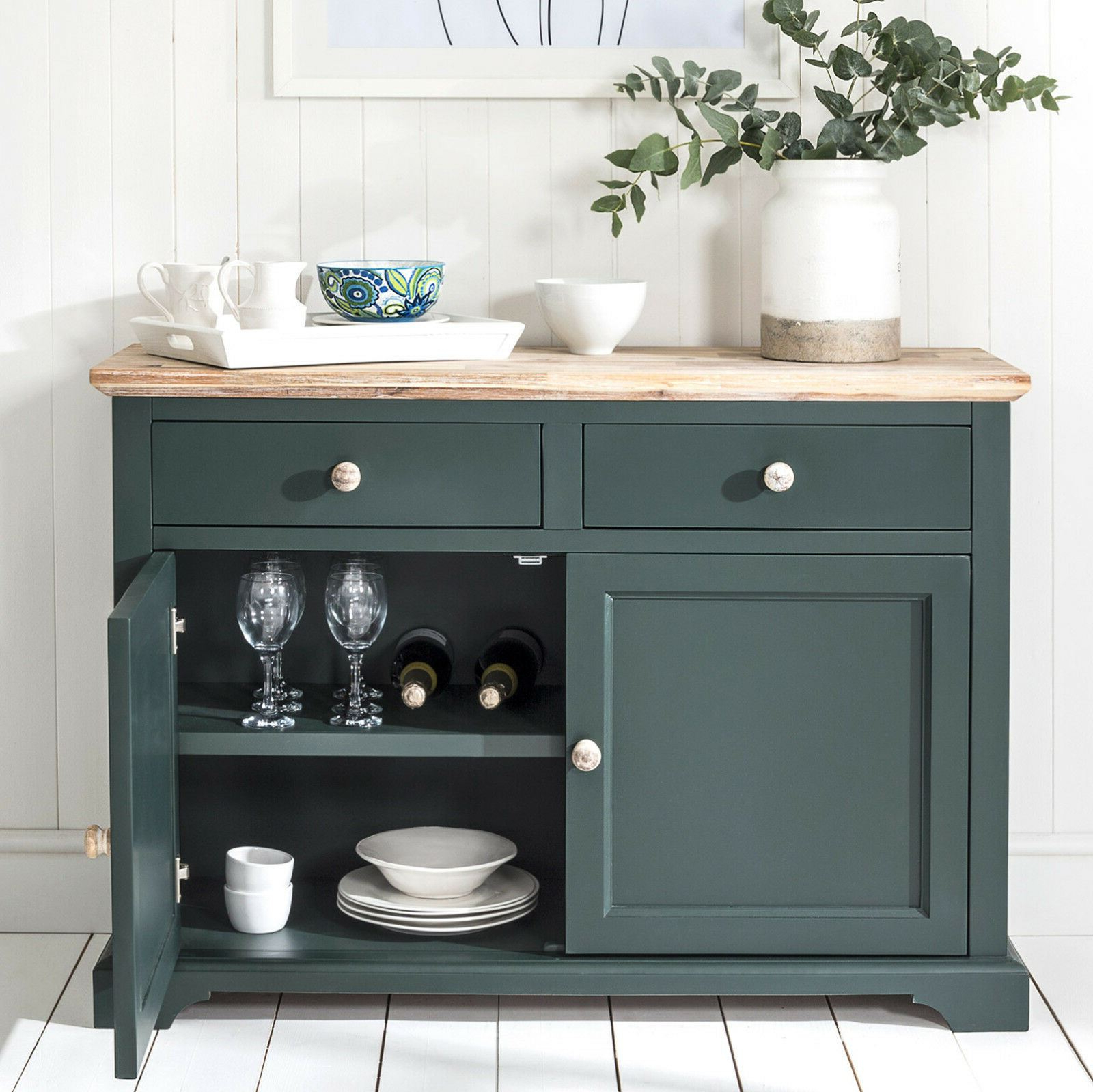 """Widely Used Frida 71"""" Wide 2 Drawer Sideboards With Regard To Florence Sideboard, Kitchen Cupboard With 2 Drawers And  (View 11 of 20)"""