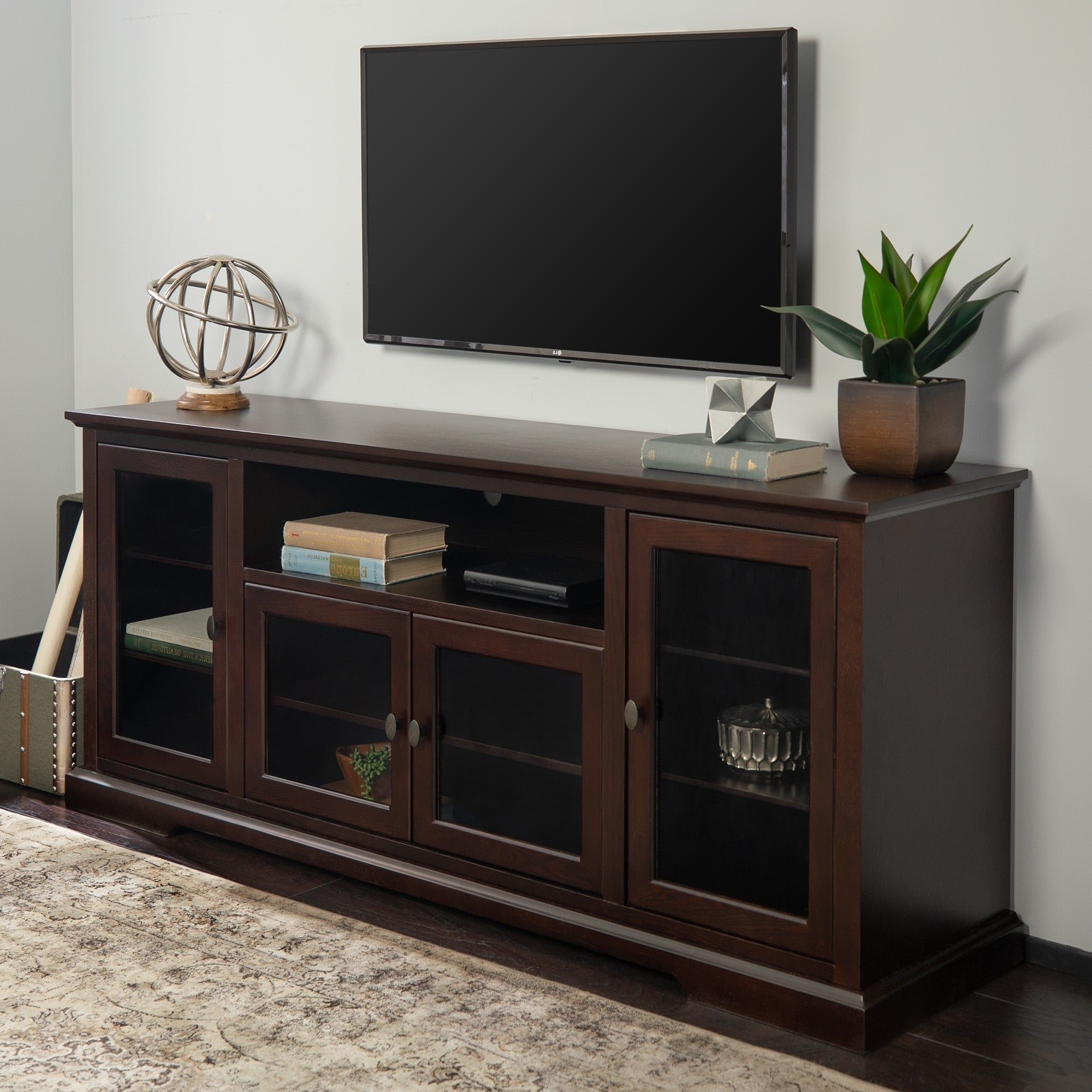"""Widely Used Mainor Tv Stands For Tvs Up To 70"""" Regarding Middlebrook Designs Beaverhead 70 Inch Espresso Highboy Tv (View 15 of 20)"""