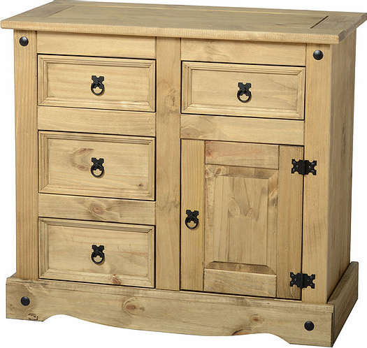 """Widely Used Nahant 36"""" Wide 4 Drawer Sideboards In Corona 1 Door 4 Drawer Sideboard – Distressed Waxed Pine (View 8 of 20)"""