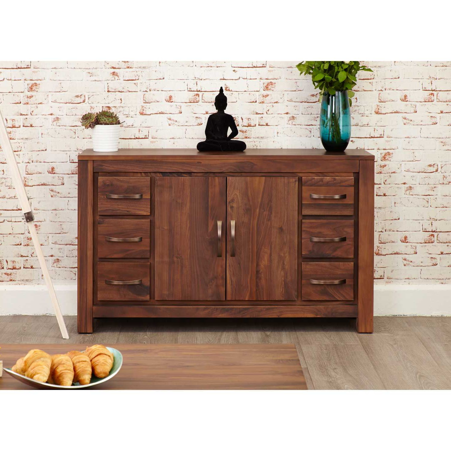 """Widely Used Solid Walnut Sideboard Large Wide With 6 Drawers 2 Doors With Miruna 63"""" Wide Wood Sideboards (View 5 of 20)"""