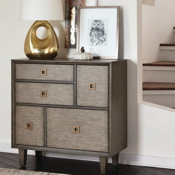 Widely Used Strick & Bolton Bowery Weathered Grey Accent Cabinet With Neidig  (View 4 of 8)