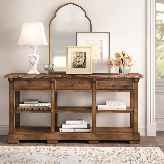 """Widely Used Summit 72"""" Wide 3 Drawer Poplar Wood Buffet Table In 2020 With Regard To Brentley 54"""" Wide 1 Drawer Sideboards (View 14 of 20)"""
