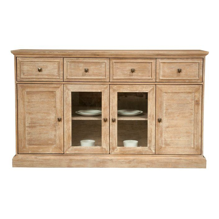 """Winthrop 70"""" Wide 4 Drawer Acacia Wood Sideboard Pertaining To 2019 Claire 70"""" Wide Acacia Wood Sideboards (View 6 of 20)"""