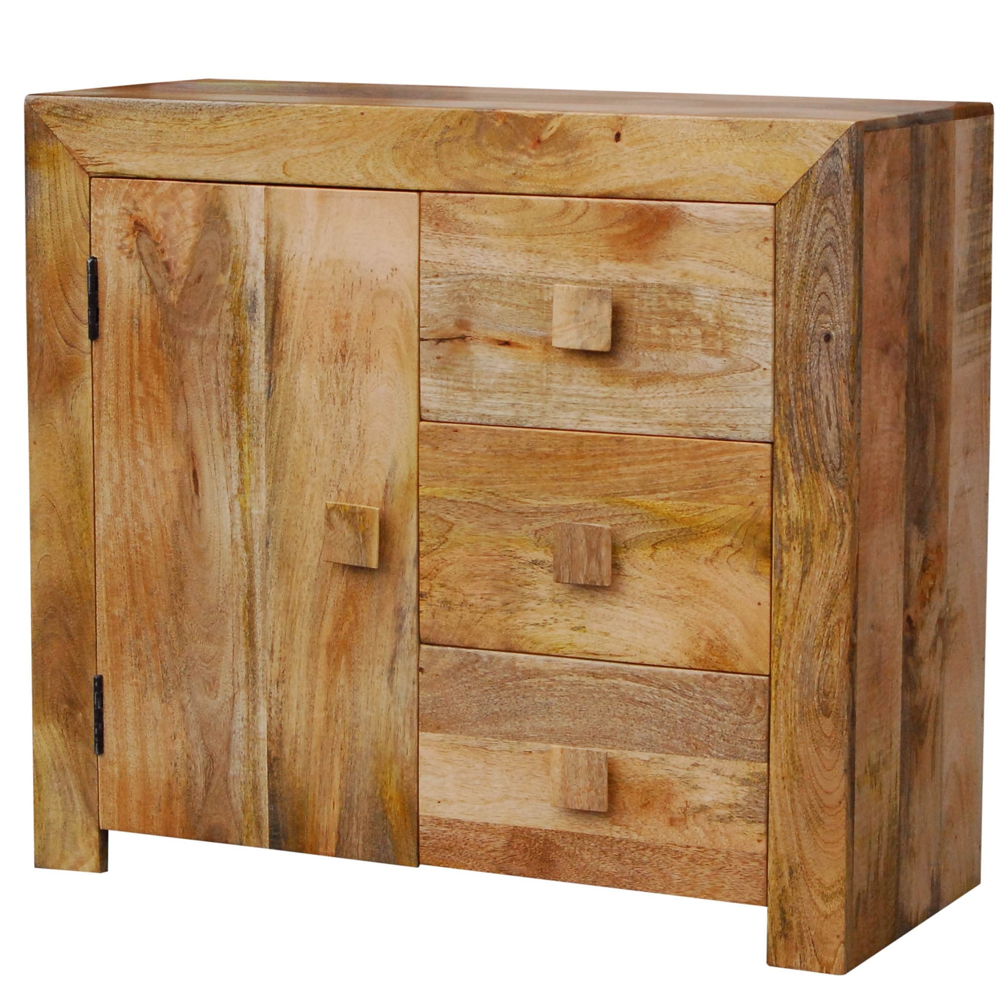 Wooden Side Board For 3 Drawer Sideboards (View 12 of 20)
