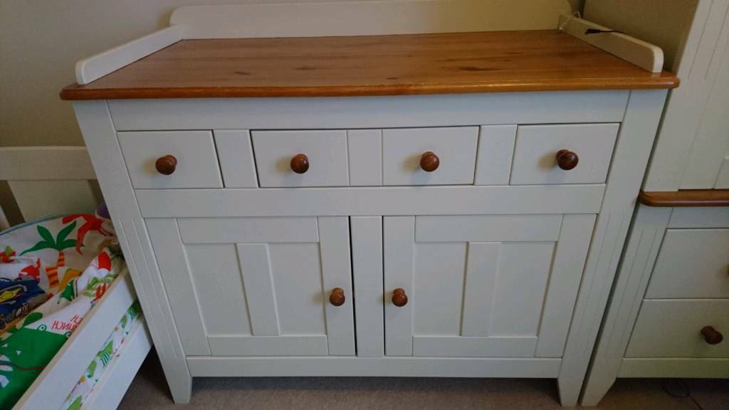 """Yukon 58"""" Wide 2 Drawer Pine Wood Sideboards In Most Up To Date Nursery Changing Unit / Cupboard / Sideboard (View 12 of 20)"""
