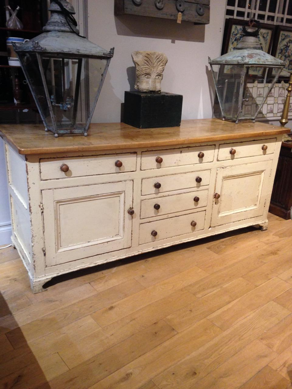 """Yukon 58"""" Wide 2 Drawer Pine Wood Sideboards Within Preferred Painted Pine Lincolnshire Dresser Base – Desks & Sideboards (View 3 of 20)"""