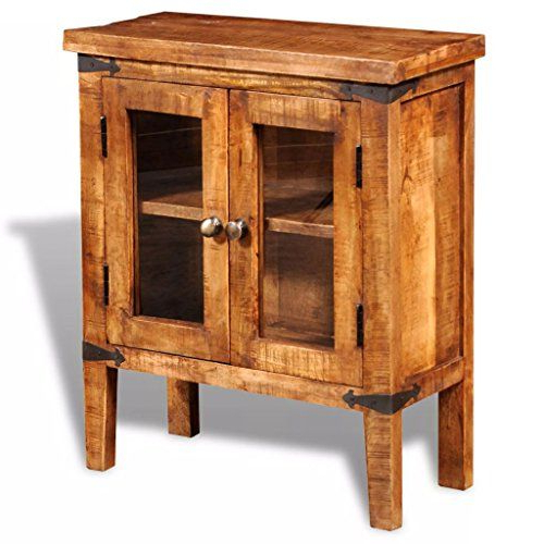 """Zinaida 59"""" Wide Mango Wood Buffet Tables For Most Recently Released Vidaxl Solid Rough Mango Wood Small Cabinet Cupboard (View 10 of 20)"""