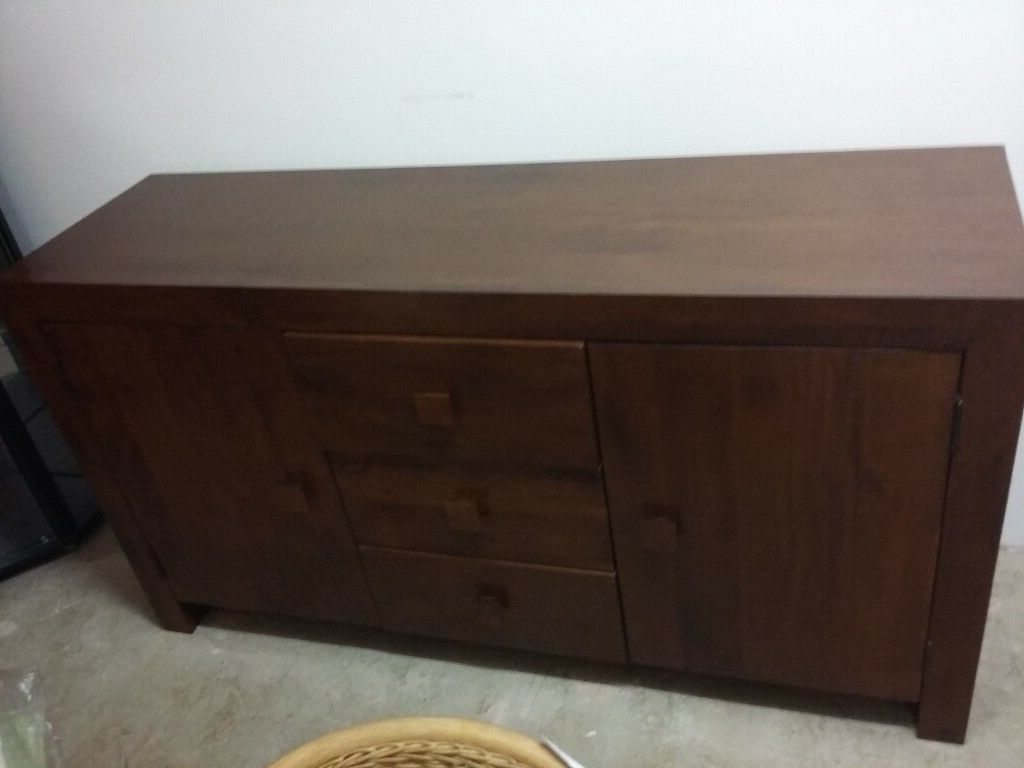 """Zinaida 59"""" Wide Mango Wood Buffet Tables Pertaining To Most Up To Date Next Solid Chunky Mango Wood Sideboard (View 5 of 20)"""