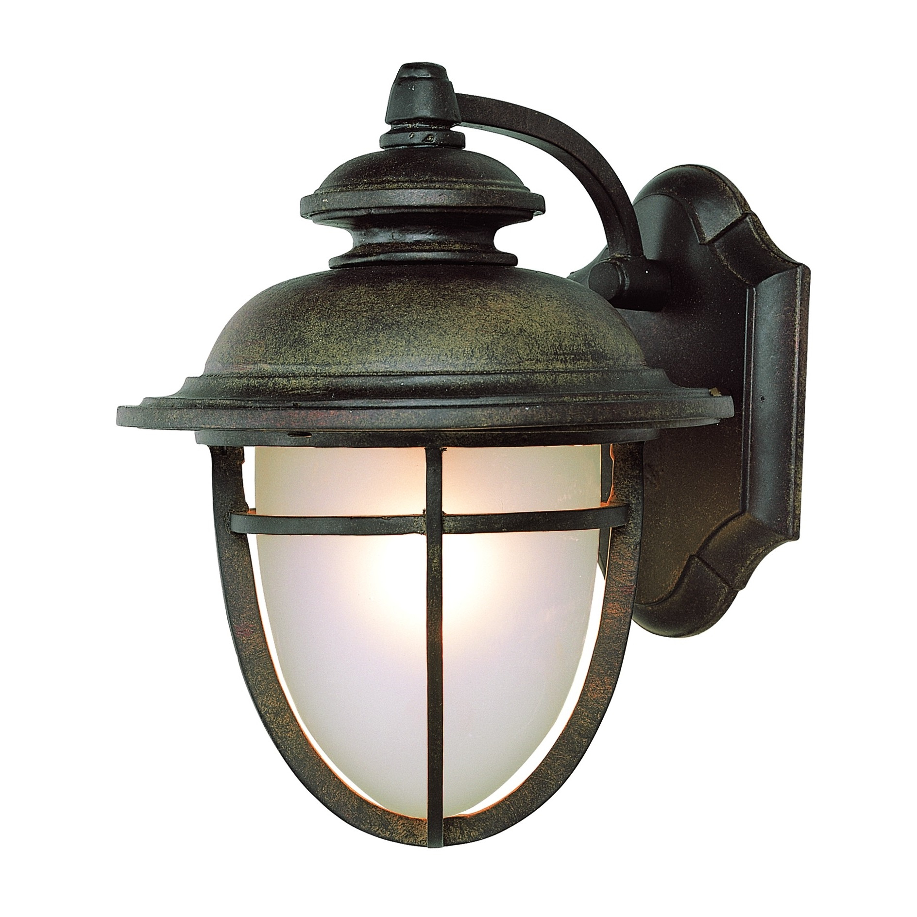 1 – Bulb Outdoor Wall Lanterns For Most Recently Released Transglobe Lighting Outdoor 1 Light Wall Lantern In Dark (View 9 of 20)