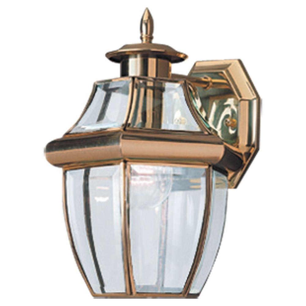 1 – Bulb Outdoor Wall Lanterns In Popular Sea Gull Lighting Lancaster Wall Mount 1 Light Outdoor (View 18 of 20)