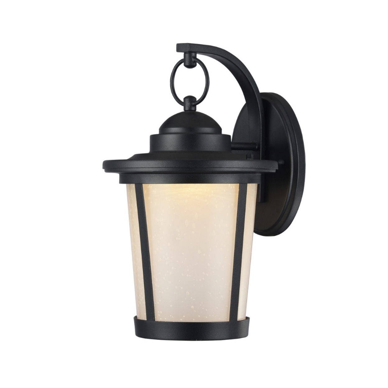 1 – Bulb Outdoor Wall Lanterns Within Most Current Abbington Transitional Black 1 Light Outdoor Wall Sconce (View 11 of 20)