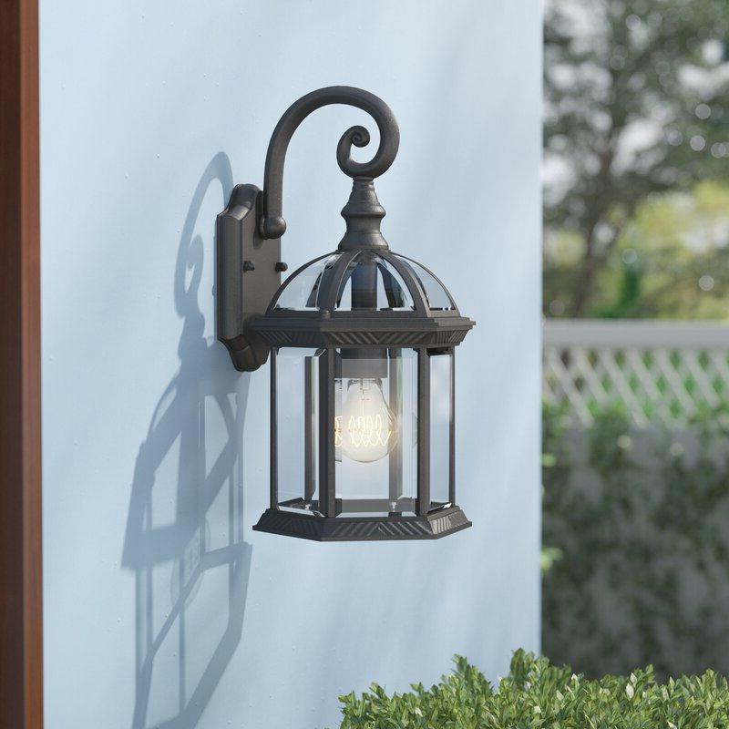 1 – Bulb Outdoor Wall Lanterns Within Popular Astoria Grand Caroline 1 Light Outdoor Wall Lantern (View 3 of 20)