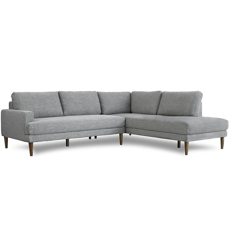 """102"""" Stockton Sectional Couches With Reversible Chaise Lounge Herringbone Fabric Regarding 2019 Sectional Couches: Buy Living Room Sectional Sofas Online (View 11 of 20)"""