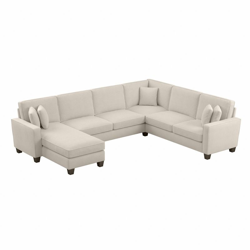 """102"""" Stockton Sectional Couches With Reversible Chaise Lounge Herringbone Fabric Throughout 2019 Bush Furniture Stockton 127w U Shaped Sectional Couch With (View 1 of 20)"""