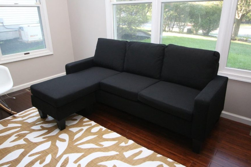 13 Cheap Sectional Sofas Under $500 For 2020 Pertaining To Newest 2pc Connel Modern Chaise Sectional Sofas Black (View 18 of 20)