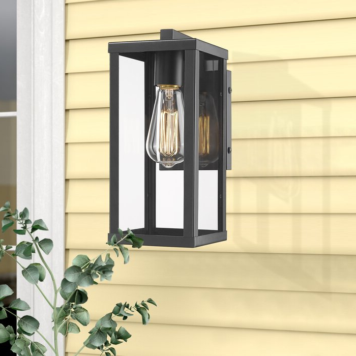 """17 Stories Turcot 12"""" H Hardwired Outdoor Wall Lantern For Well Liked Turcot Wall Lanterns (View 2 of 20)"""