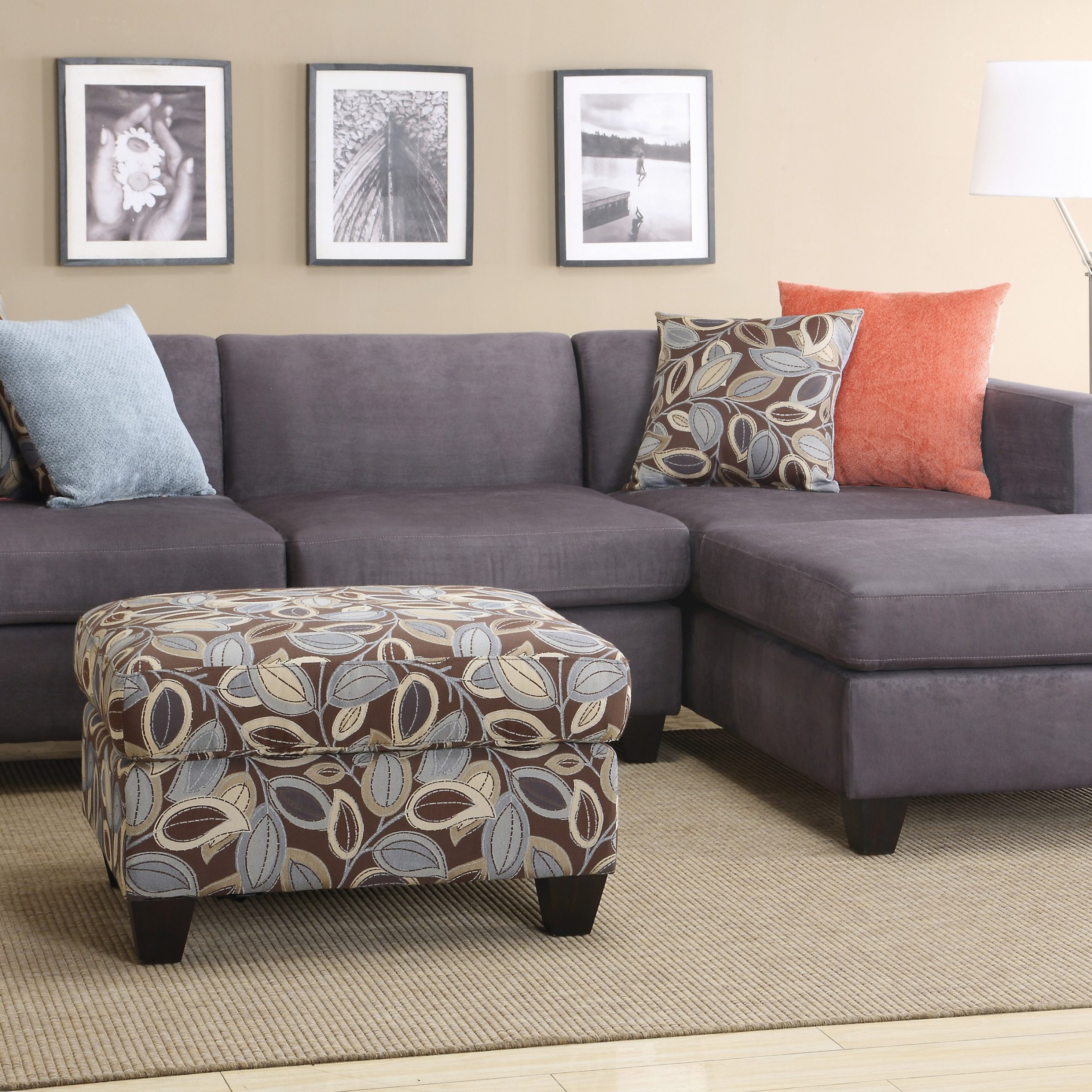2 Piece Sectional Sofa With Chaise Design – Homesfeed Intended For Preferred 4pc Crowningshield Contemporary Chaise Sectional Sofas (View 15 of 20)