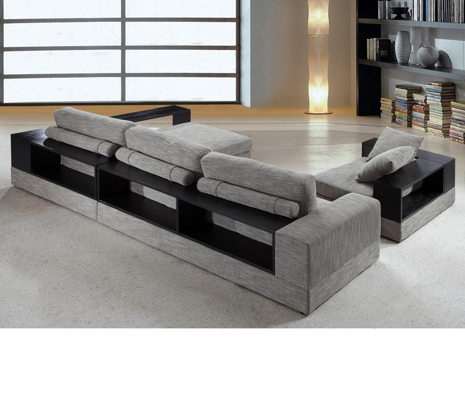 2018 4pc Crowningshield Contemporary Chaise Sectional Sofas Inside Dreamfurniture – Divani Casa Anthem – Modern Fabric (View 9 of 20)