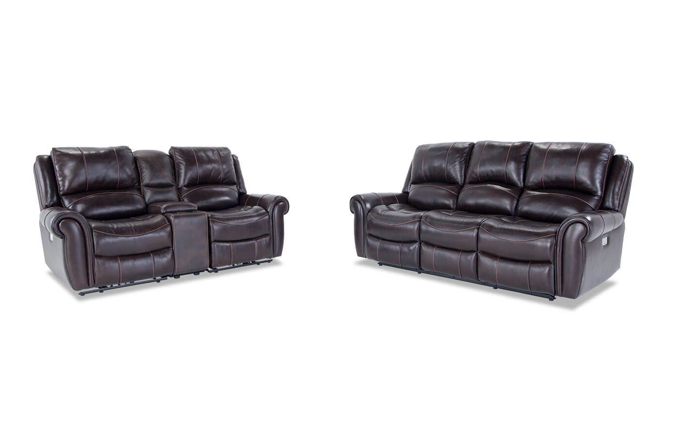 2018 Bennett Power Reclining Sofas For Bennett Leather Power Reclining Sofa And Console Loveseat (View 19 of 20)