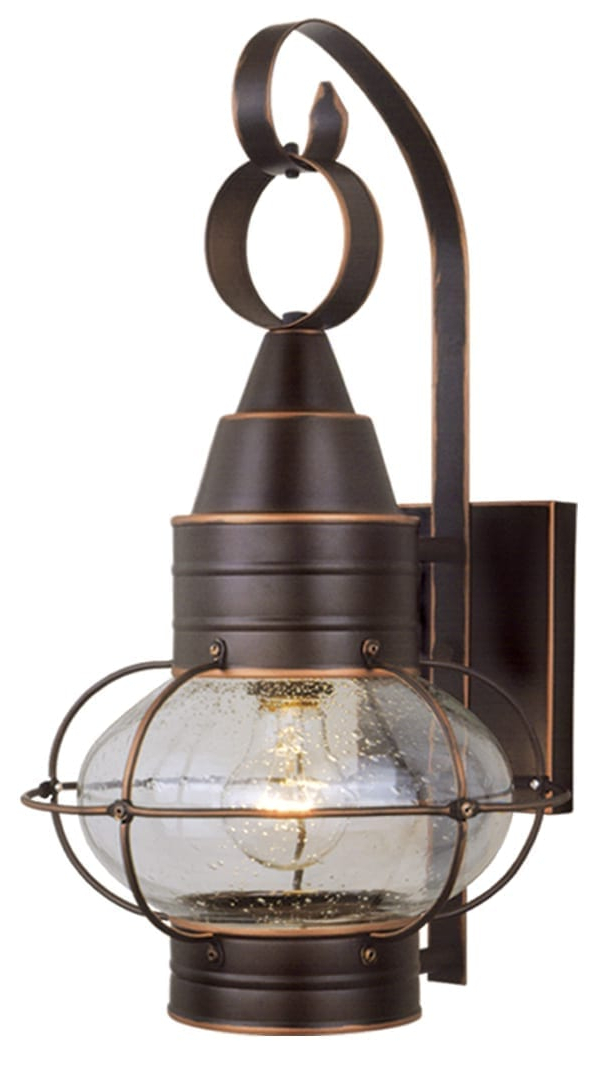 2018 Chatham 10 In Outdoor Wall Light Burnished Bronze – Vaxcel In Ranbir Oil Burnished Bronze Outdoor Wall Lanterns With Dusk To Dawn (View 13 of 20)