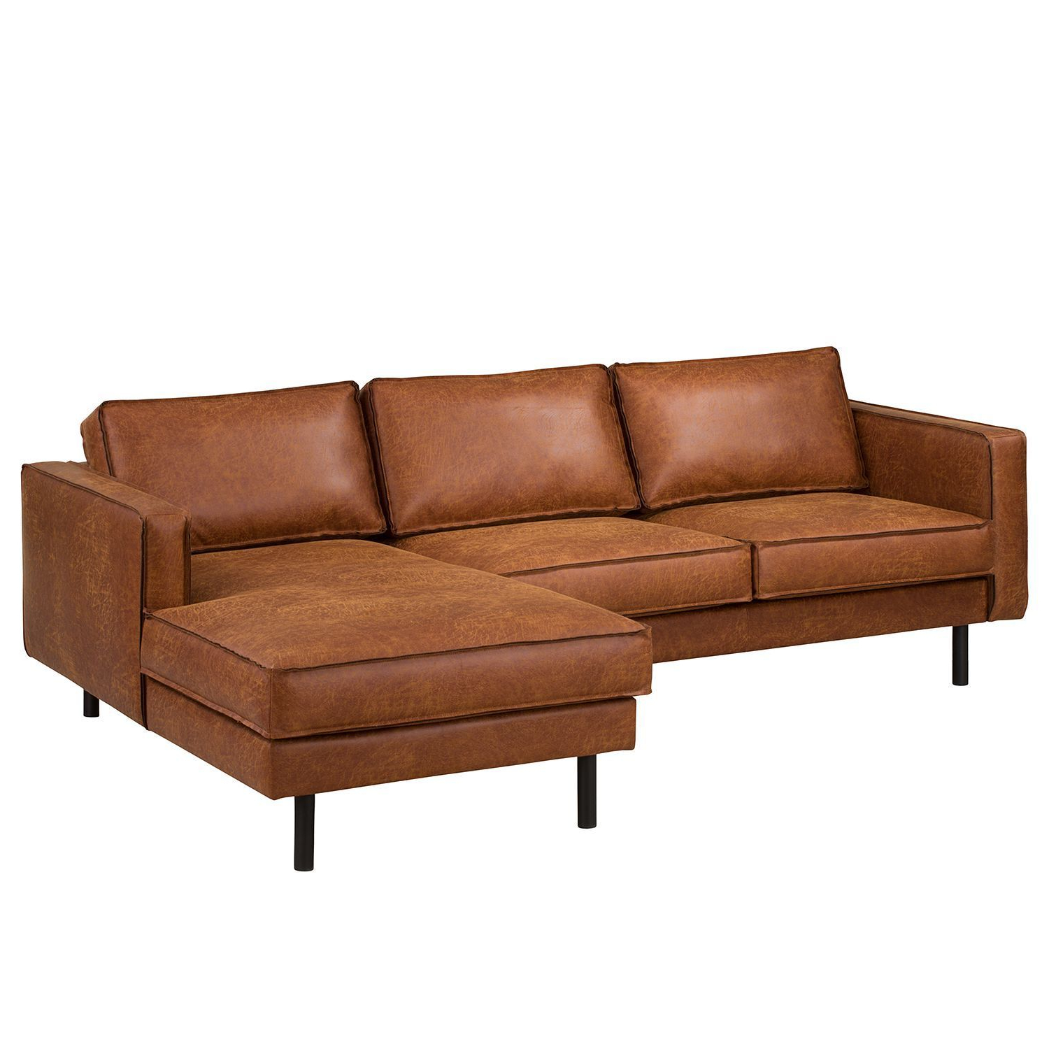 2018 Florence Mid Century Modern Right Sectional Sofas Cognac Tan Throughout Ecksofa Fort Dodge Antiklederlook (View 2 of 20)